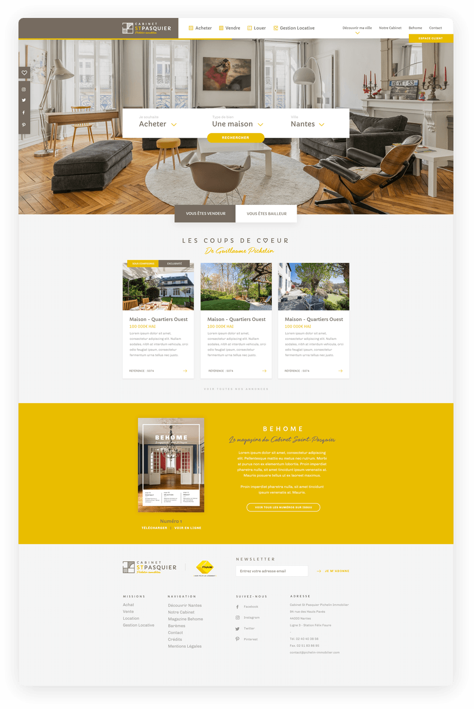 Landing Page Immobilier Pichelin